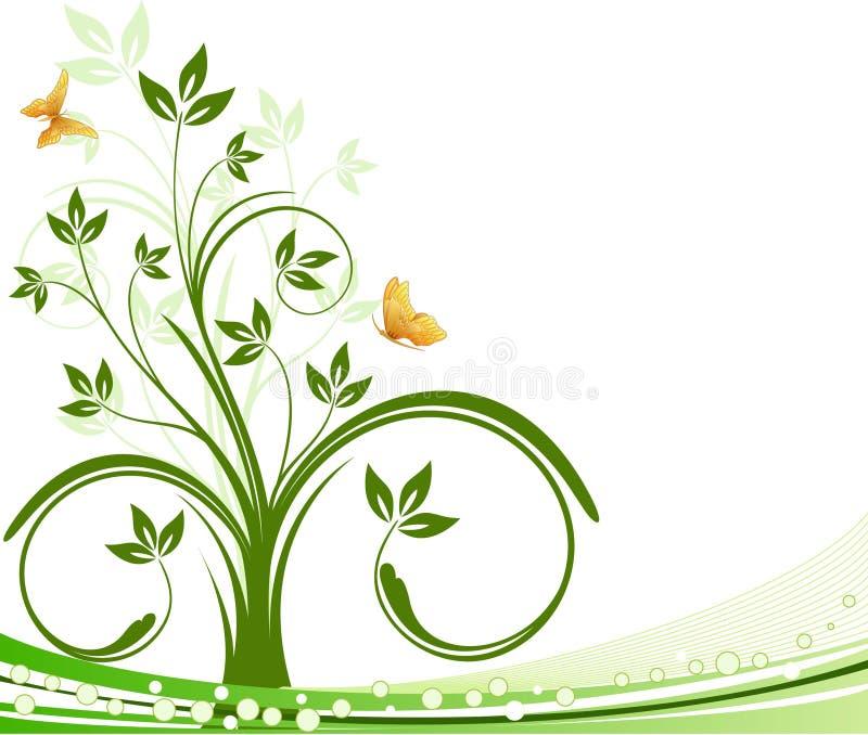 Vector floral del beckground stock de ilustración