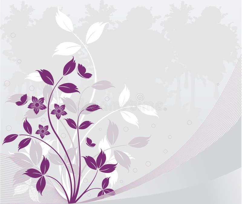 Vector floral del beckground ilustración del vector