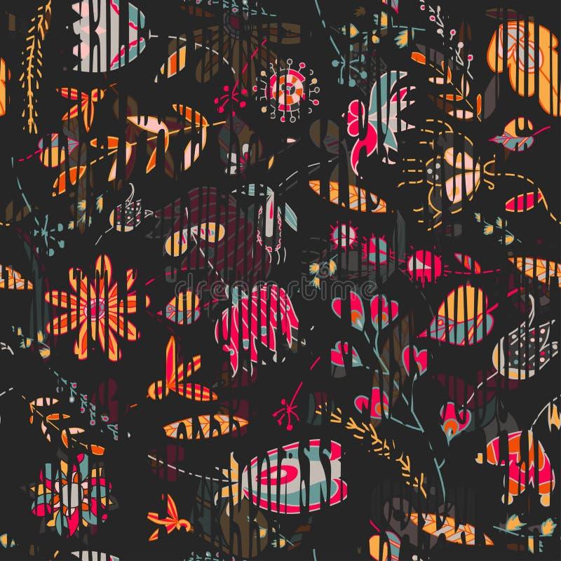 Vector floral del estampado de plores del vintage libre illustration
