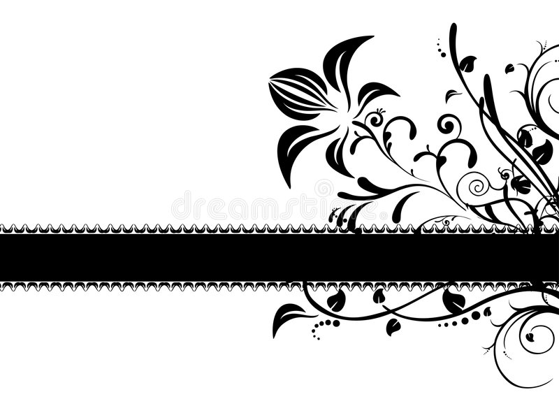 Vector floral del marco stock de ilustración