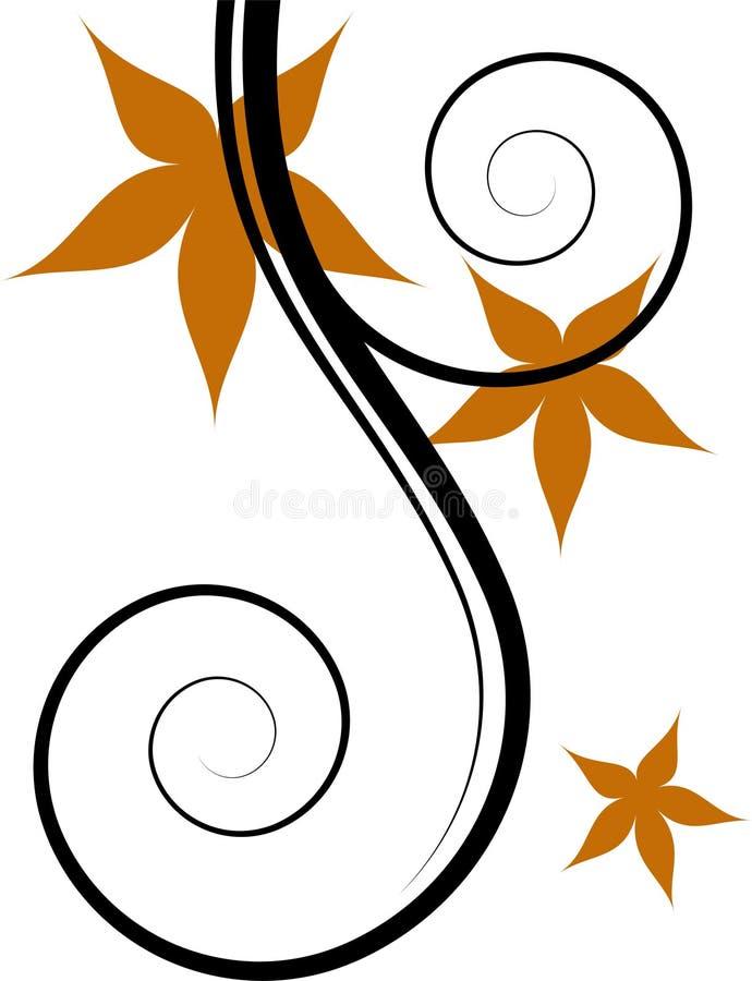 Vector Floral Design Element Stock Images