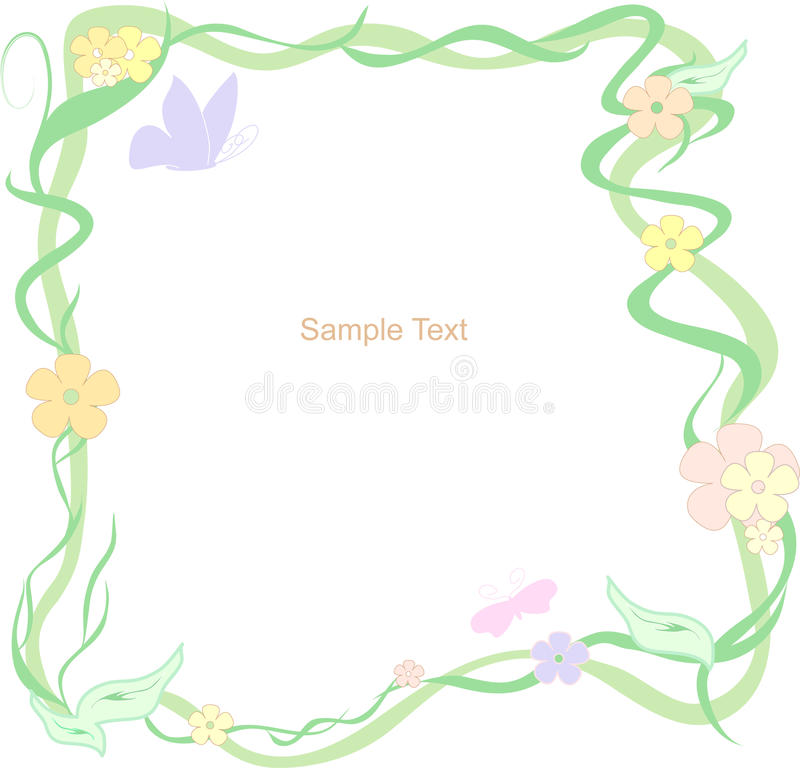 Vector Floral Frame Stock Photography