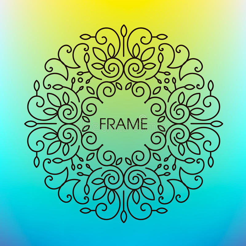 Vector floral frame with copy space for text in royalty free illustration