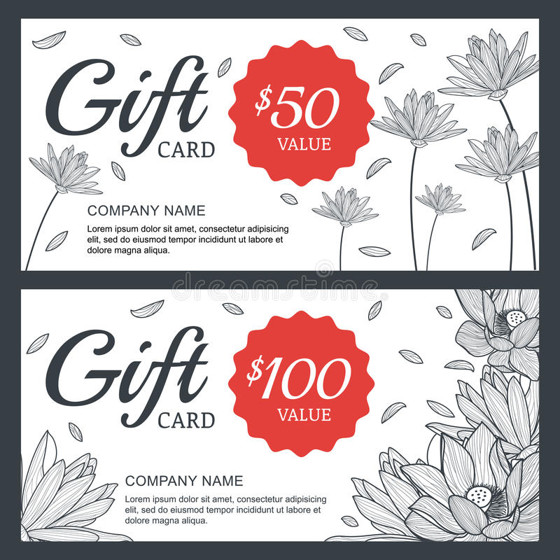 Vector floral gift voucher or card background template vintage download vector floral gift voucher or card background template vintage stock vector illustration of yelopaper Images