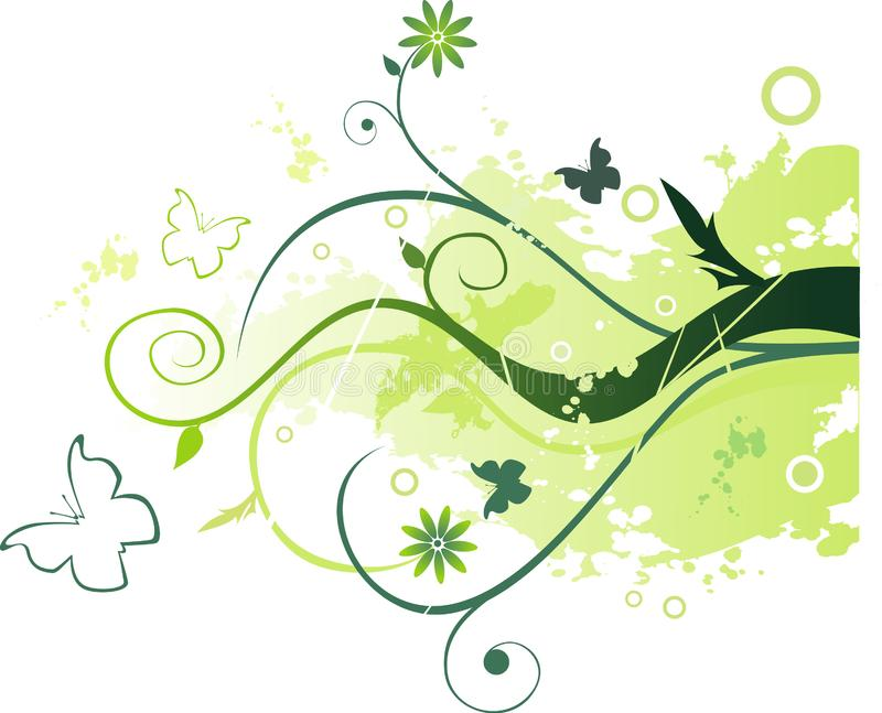 Vector floral illustration royalty free stock photos