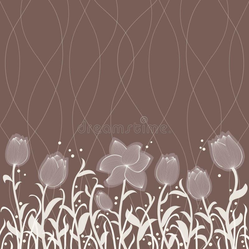 Vector floral invitation pattern stock illustration