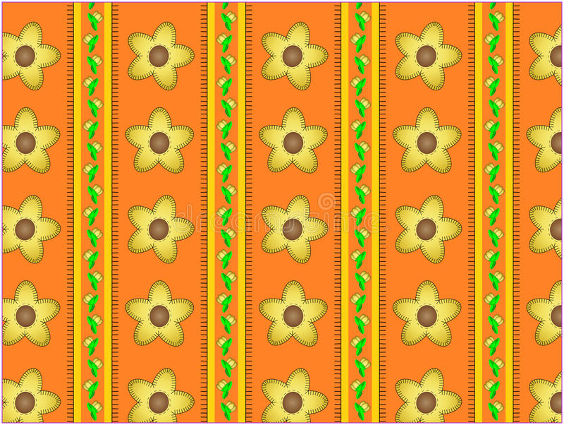 Download Vector Floral Orange Striped Wallpaper Background Stock Vector - Image: 13801253