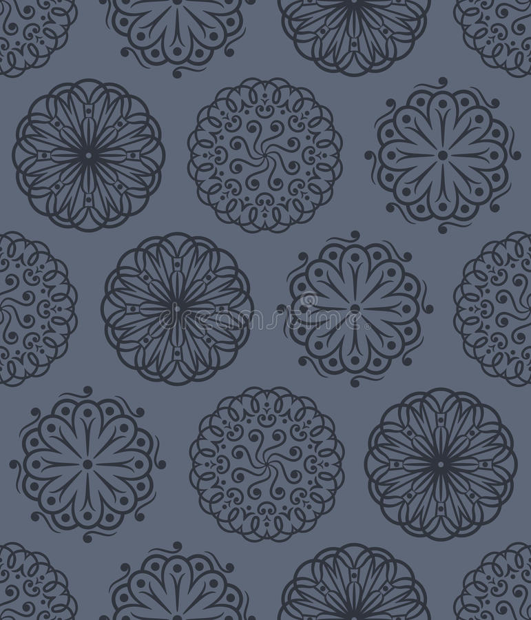 Vector Floral Ornaments Seamless Pattern Stock Photos