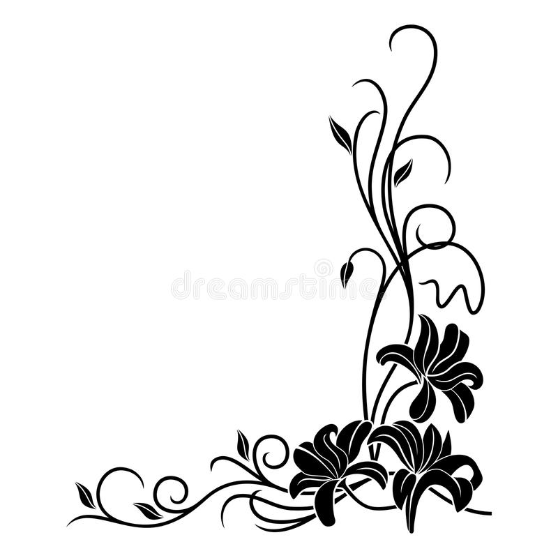 Vector floral pattern. royalty free illustration
