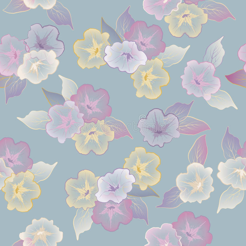 Vector Floral Seamless Pattern Beautiful Flowers Stock Photos
