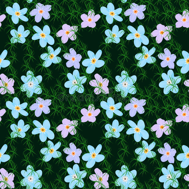 Vector floral seamless pattern. Illustration of flowers royalty free illustration