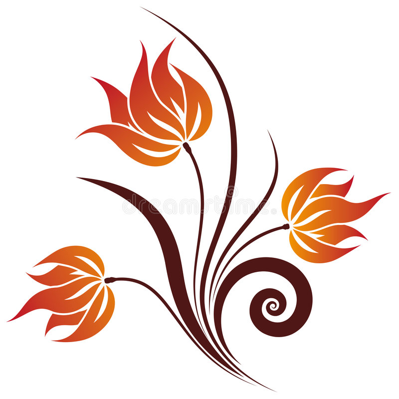 Vector Floral Swirl royalty free illustration