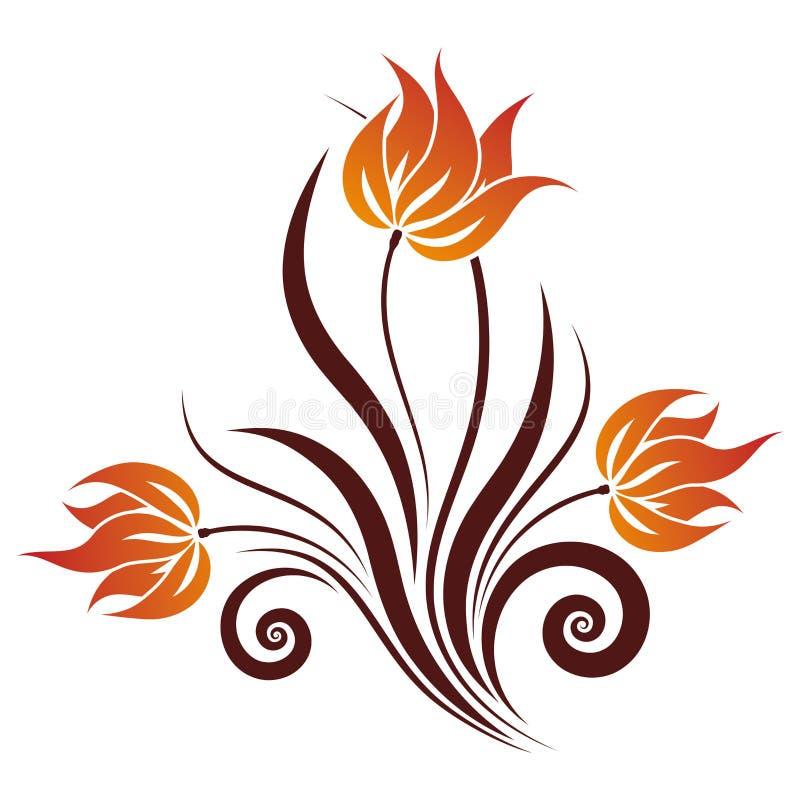 Download Vector Floral Swirl stock vector. Illustration of flower - 5958443