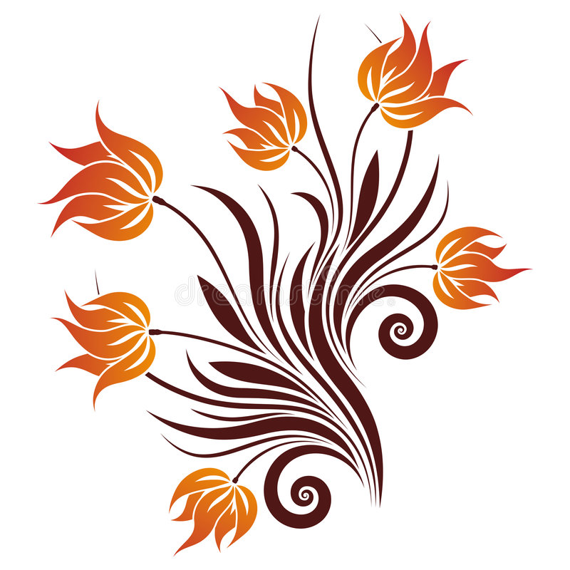Vector Floral Swirl stock photography