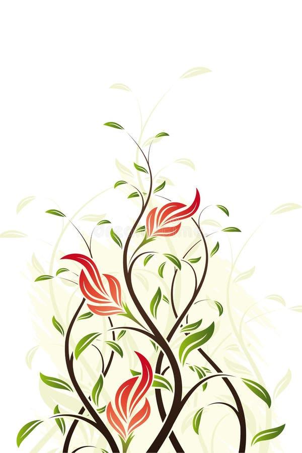 Vector Floral Swirl stock illustration