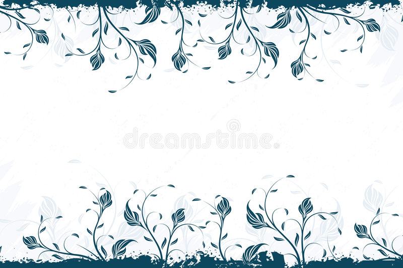 Vector Floral Swirl Bacground royalty free illustration