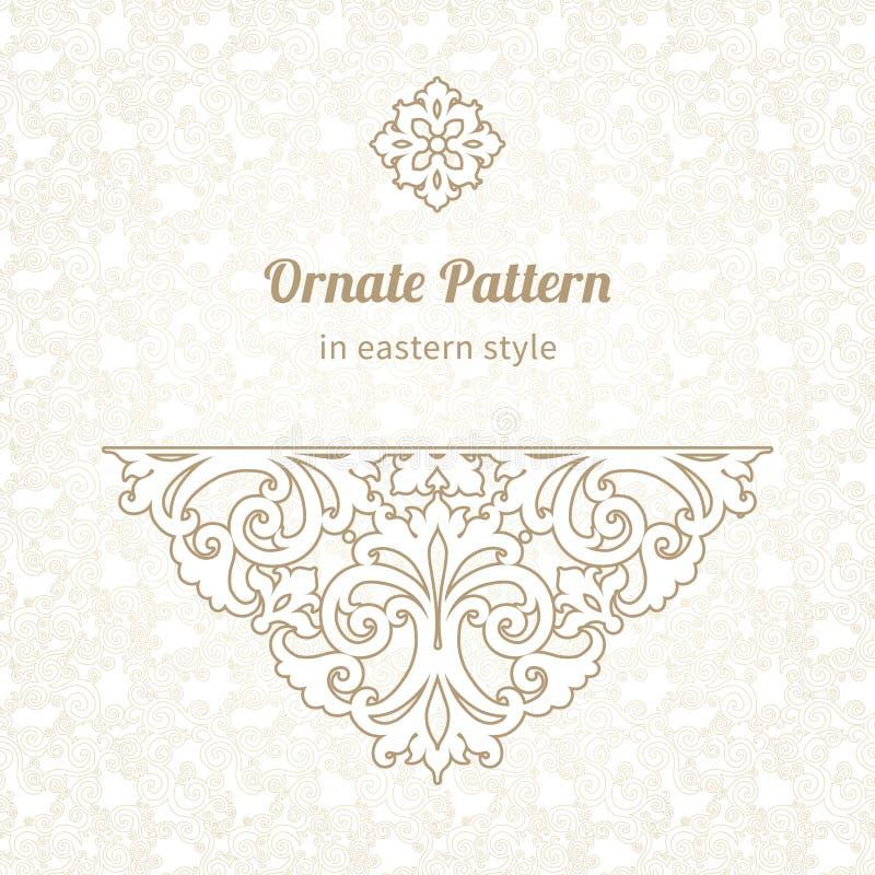 Vector floral vignette in Victorian style. Ornate element for design, place for text. Ornamental vintage illustration for wedding invitations, greeting cards vector illustration
