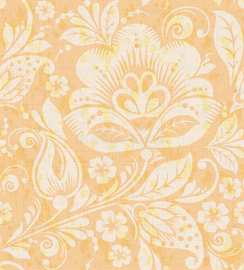 Free Vector Floral Vintage Rustic Seamless Pattern Stock Photos - 57168623