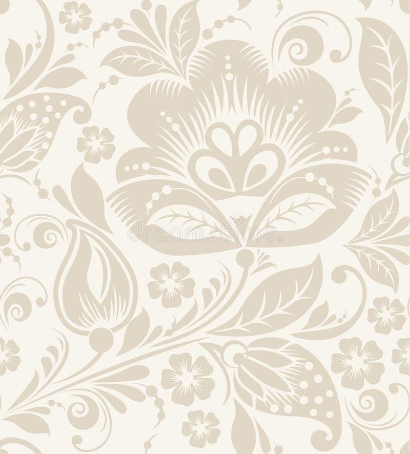 Vector Floral vintage rustic seamless pattern stock illustration