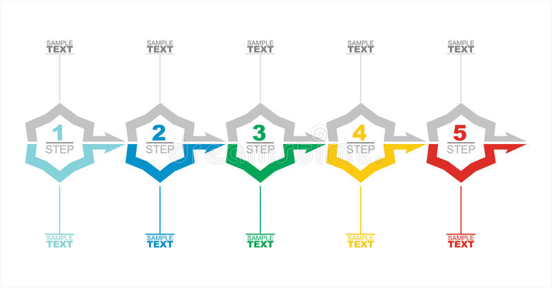 Vector flow chart template. With colorarrows vector illustration