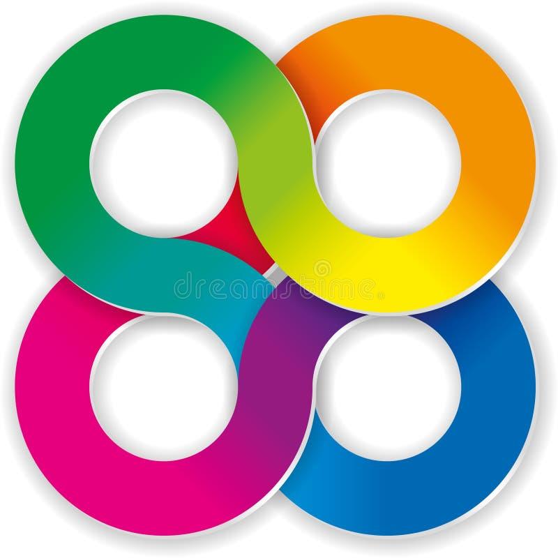 Vector flow design element. Vector multicolor flow design element vector illustration