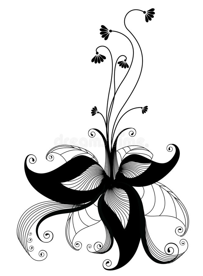 Vector flower royalty free stock photos