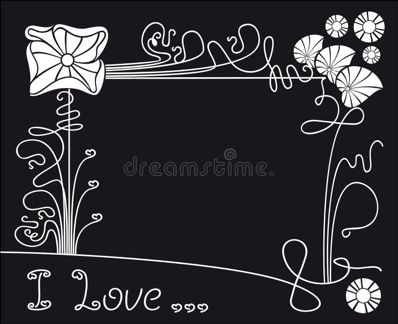 Vector flower black background stock illustration
