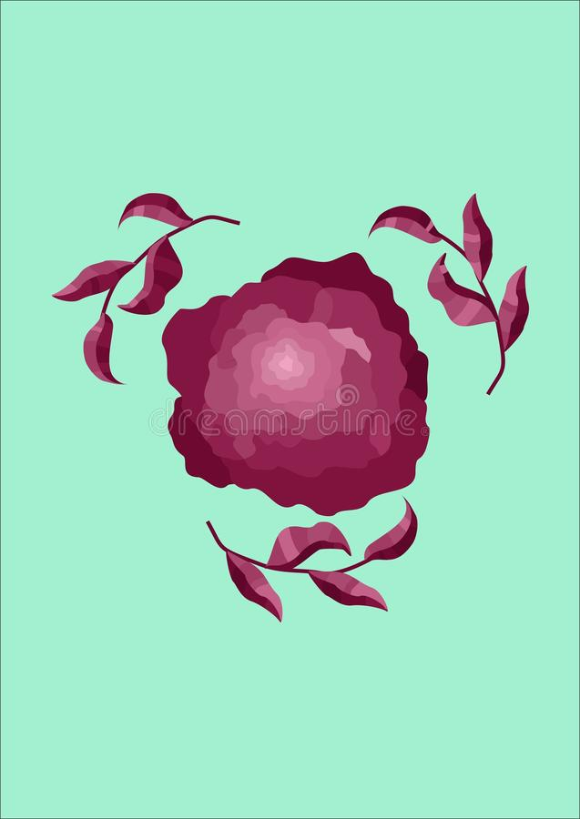 Vector flower royalty free stock photography