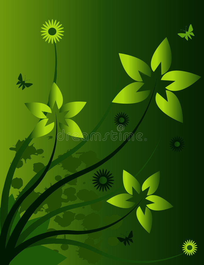 Free Vector Flower Design Royalty Free Stock Photos - 2654748