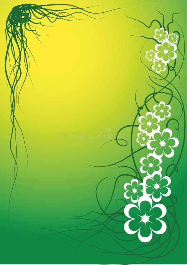 Vector flower frame vector illustration