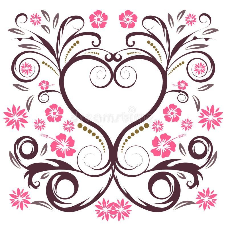 Vector flower heart stock illustration