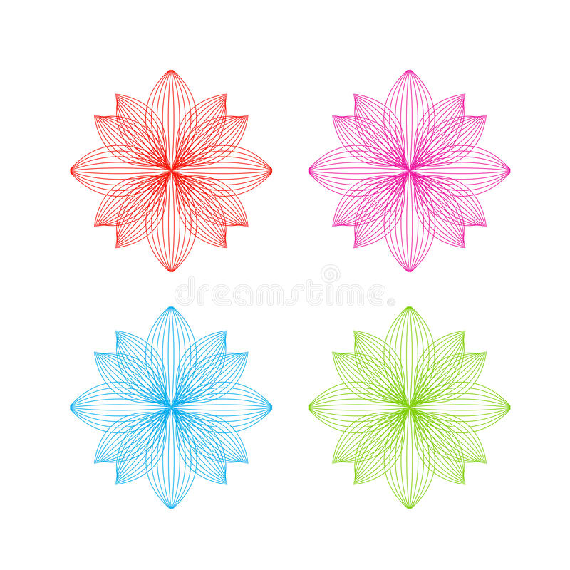 Vector flower icons stock photos