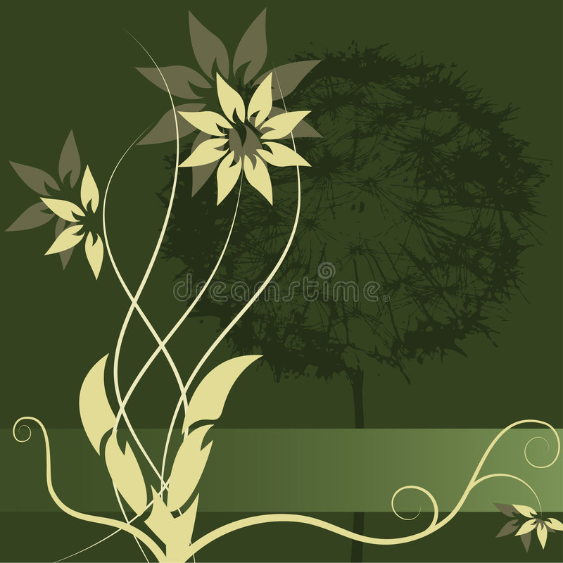 Free Vector Flower Label Design Royalty Free Stock Image - 2654756