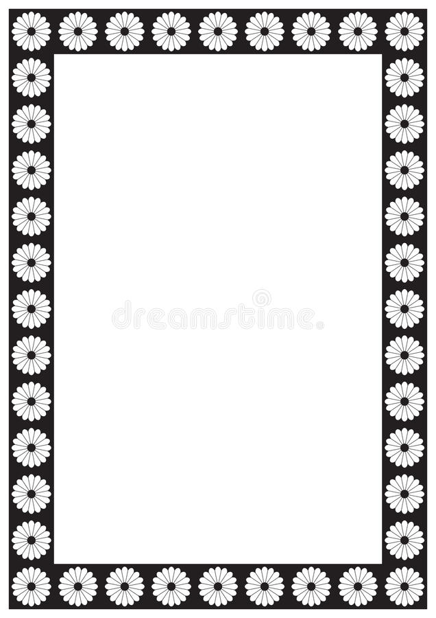 Vector Flower Page Border A4 Design For Project Stock Vector ...