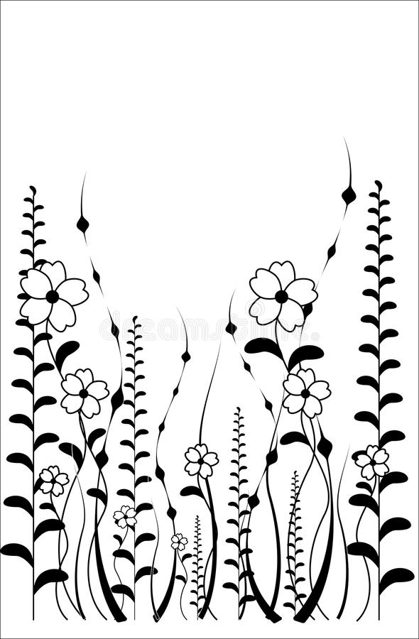 Download Vector Flower Pattern On White Background Stock Vector - Illustration of element, abstract: 23327732