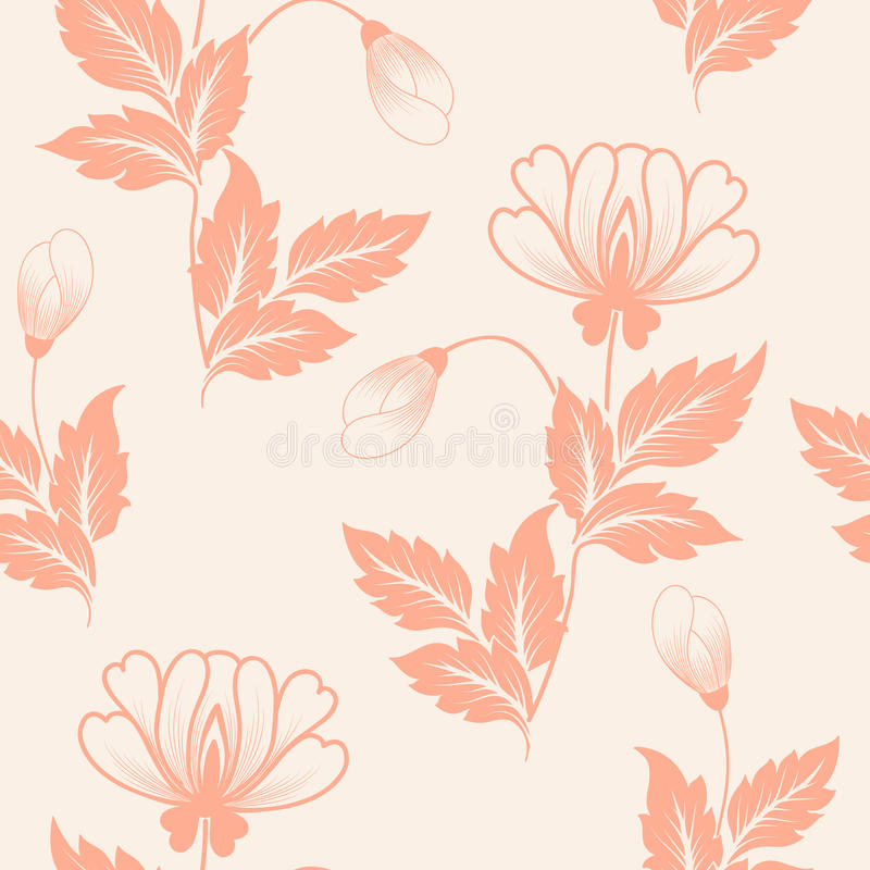 Vector flower seamless pattern element. Elegant texture for backgrounds. Classical luxury old fashioned floral ornament royalty free illustration