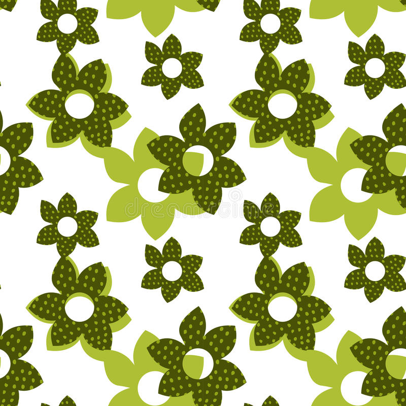 Vector flower seamless pattern vector illustration