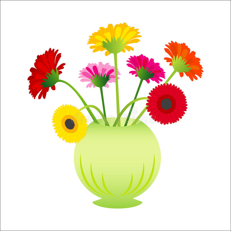 Download Vector flowers gerber stock vector. Image of floral, isolated - 10083156