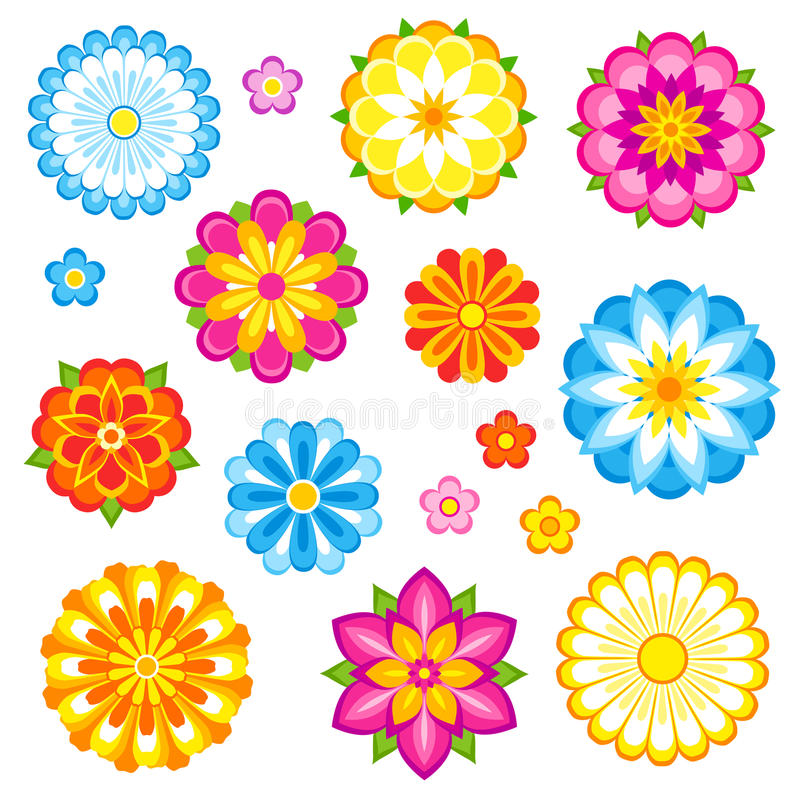 Vector flowers set stock illustration