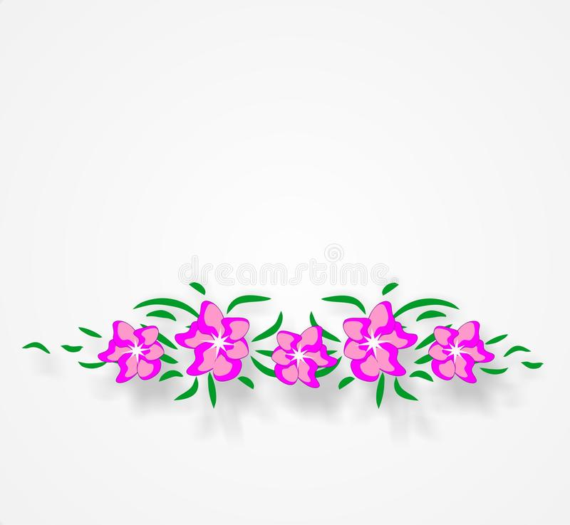 Vector, flowers, summer, floral background, bright colors, abstraction for a floral background stock photography