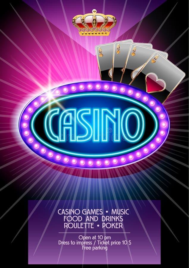 Vector flyer for casino night vector illustration