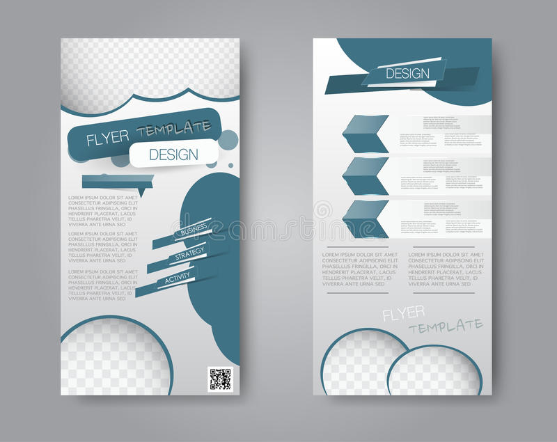 download vector flyer and leaflet design set of two side brochure templates stock vector