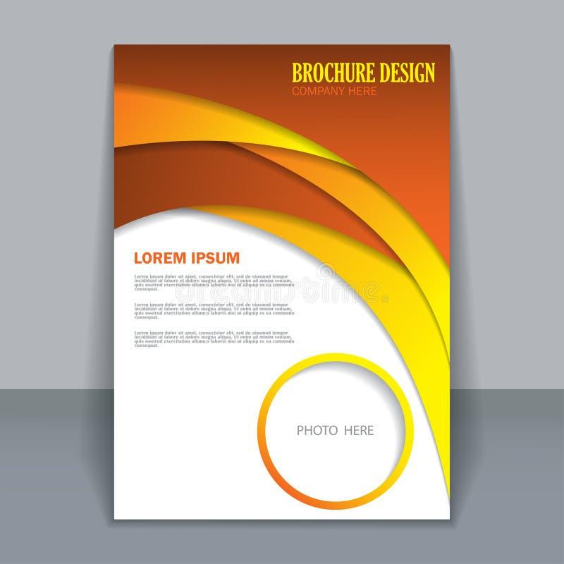 Vector flyer template for design royalty free stock photos