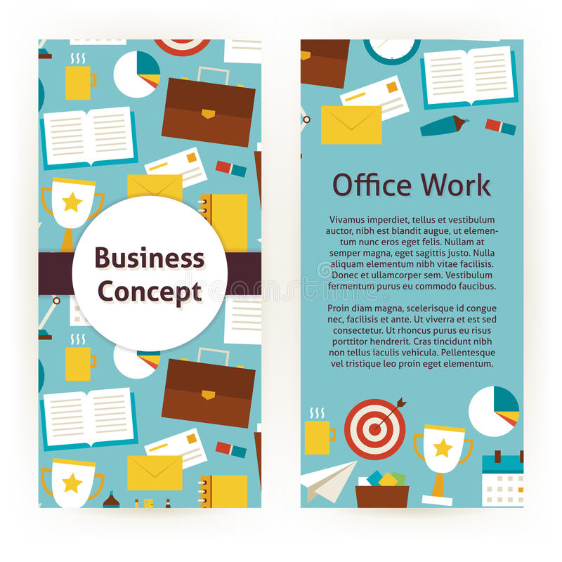 Vector Flyer Template Of Flat Design Business Concept And Office