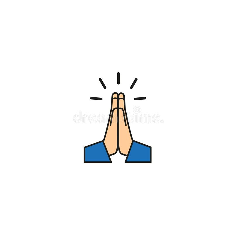 Vector Folded Hands Icon Vector Stock Vector - Illustration of five, hand:  140565317