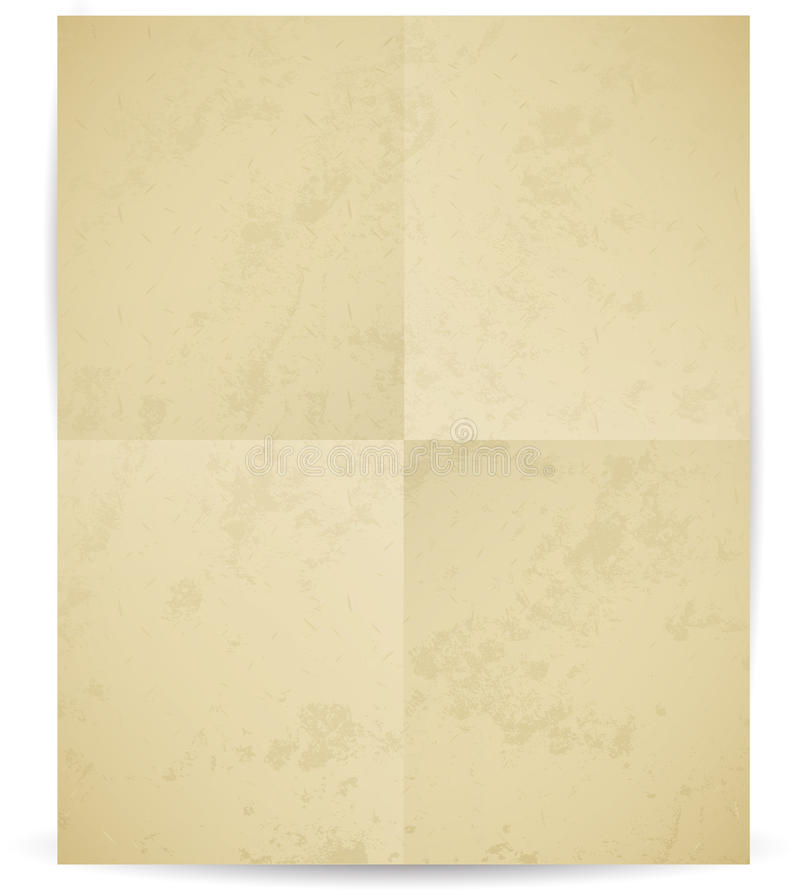 Vector folded paper with texture. Isolated on white background royalty free illustration