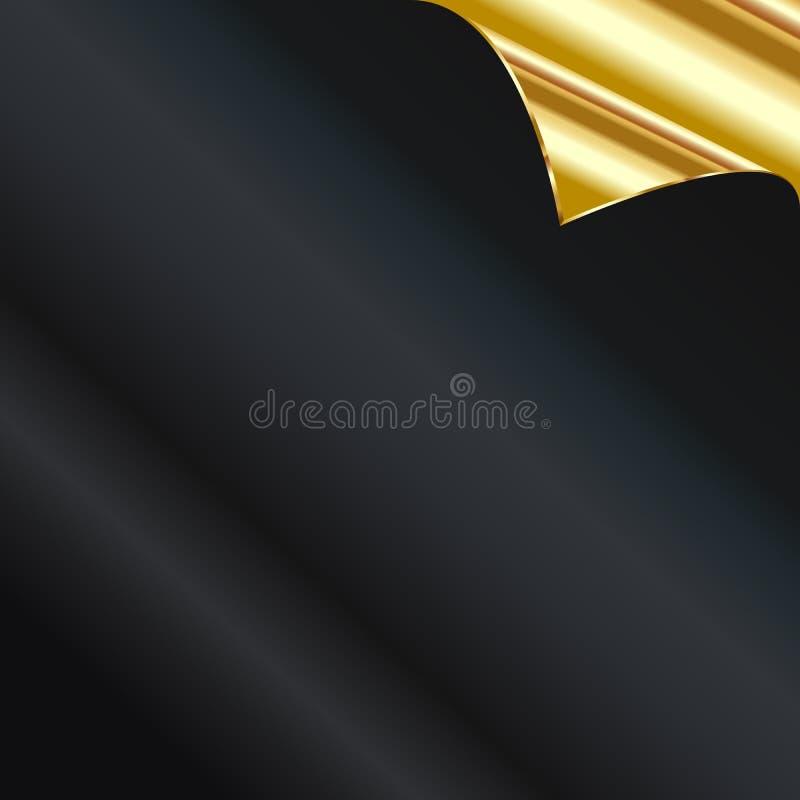 Vector a folha do papel dourado com uma onda ilustração do vetor