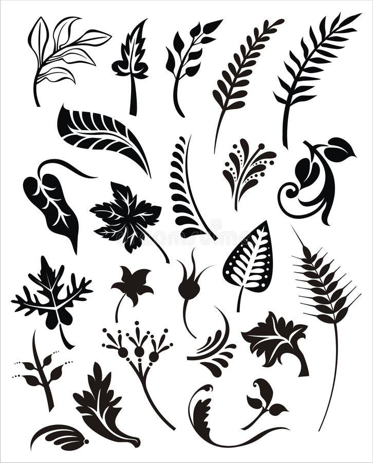 Vector foliage set royalty free illustration