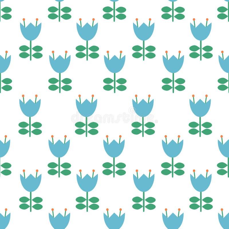 Vector folk art pattern - Scandinavian, Nordic style seamless pattern background. Surface pattern design royalty free illustration