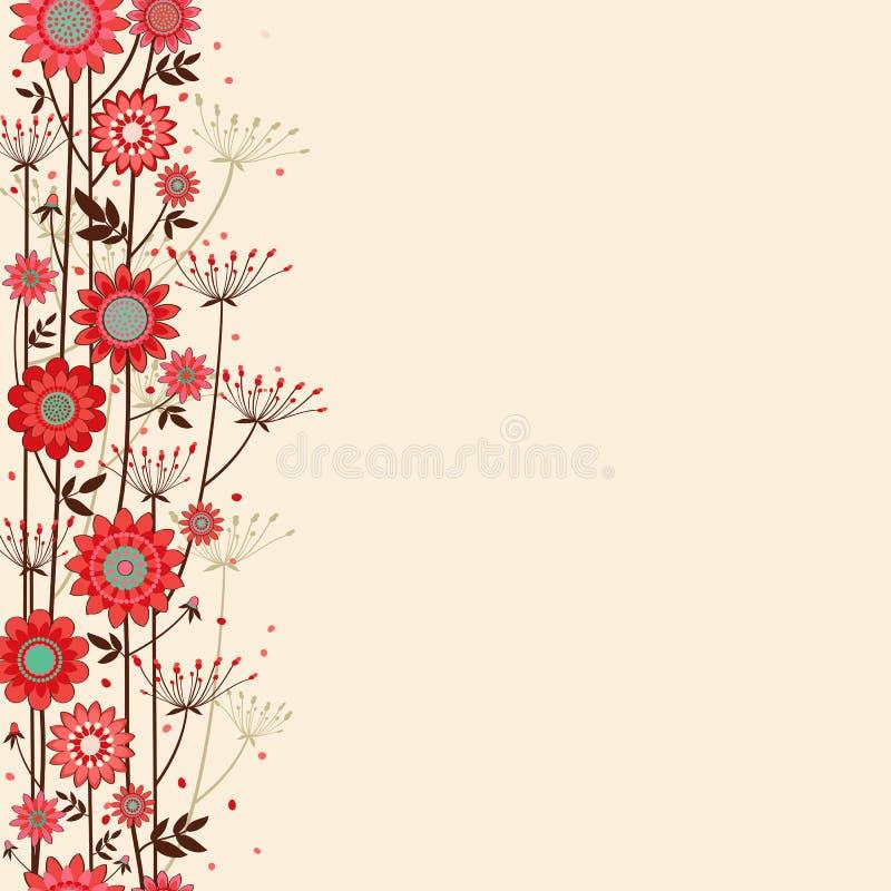 Vector Fond Decorative Flowers Stock Image